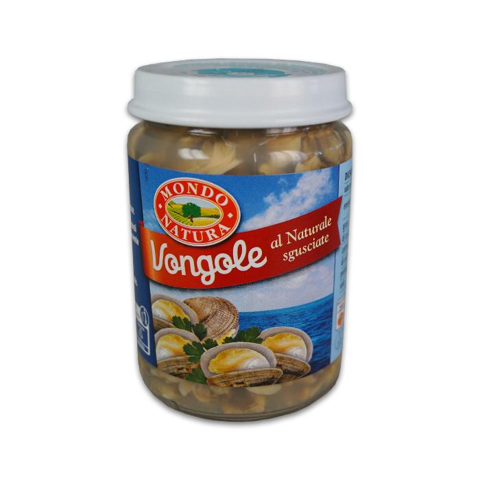 Vongole al Naturale Sgusciate / Venusmuscheln 130 g MONDO NATURA