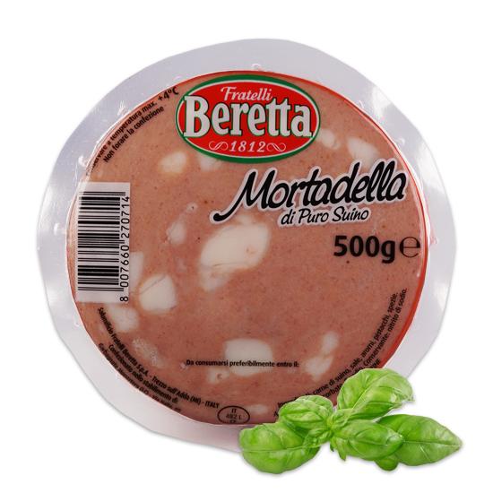 Mortadella con Pistacchio a Metá 500 g BERETTA