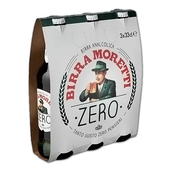Birra Moretti Zero / Moretti Bier Alkoholfrei 3x33cl