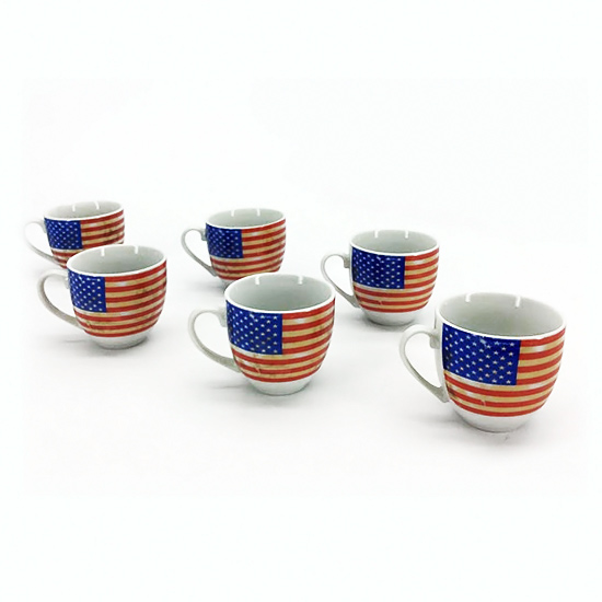 Set 6 Tazzine con Piattini America GENERAL TRADE