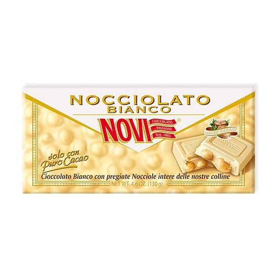 Nocciolato Bianco / Weiße Schokolade mit Haselnüssen 130 g NOVI