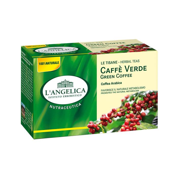 Le Tisane Caffè Verde 20 Filtri / Stoffwechselstee mit grünem Kaffee L' ANGELICA