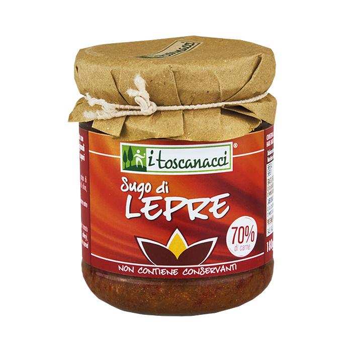 Sugo di Lepre / Tomatensoße mit Hasenfleisch 180 g I TOSCANACCI