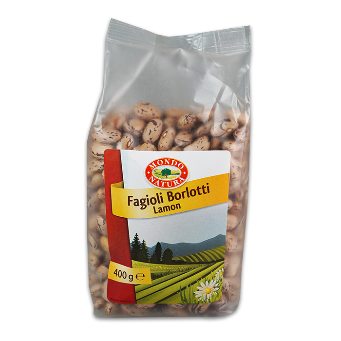 Fagioli Borlotti Secchi / Getrocknete Borlottibohnen 400 g MONDO NATURA