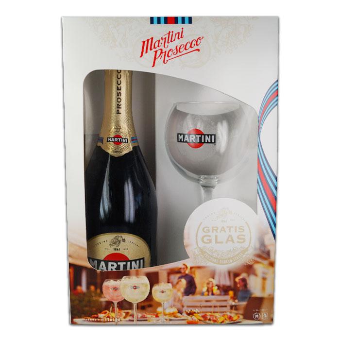 Martini Prosecco 0,75 L mit Gratis Glas