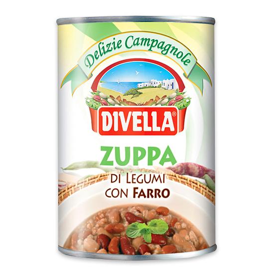 Zuppa di Legumi con Farro / Verschiedene Bohnen mit Dinkel 400 g DIVELLA