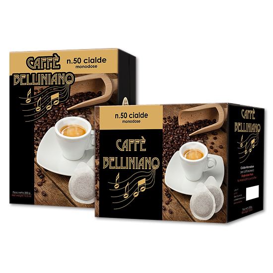 Caffé Belliniano 50 Cialde 350 g Arabicaffé