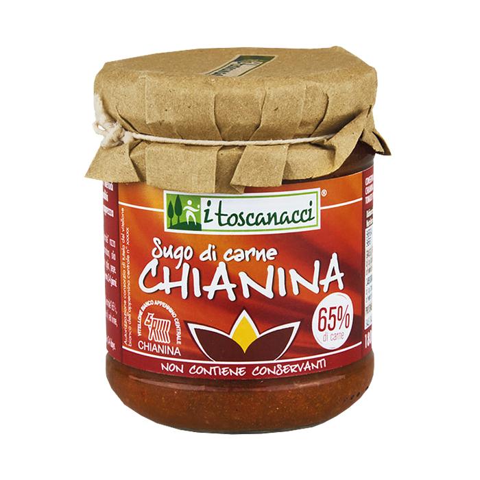 Sugo di Carne Chianina / Tomatensoße mit Rindfleisch 180g I TOSCANACCI