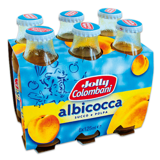 Succhi Di Frutta Albicocca  6 x 125 ml JOLLY