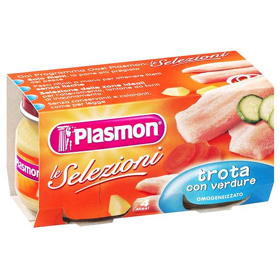 Plasmon Omo Trota e Verdura / Forelle  2 x 80 g