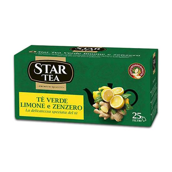 Té Verde Limone e Zenzero 25 Filtri / Grüner Tee mit Zitrone und Ingwer 25 Beutel STAR TEA