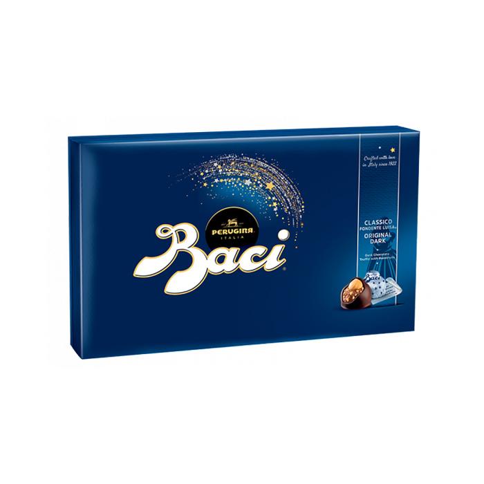 Baci Perugina Classico Fondente Luisa / Schokoladen Pralinen mit Haselnüssen 200 g