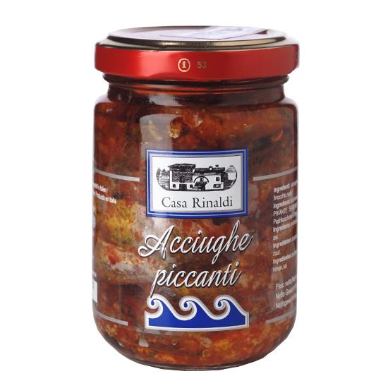Acciughe Piccanti / würzig eingelegte Sardellen 95 g CASA RINALDI