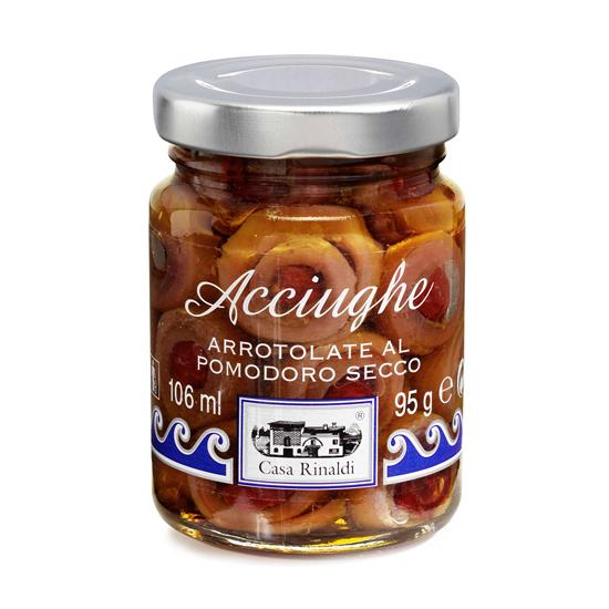 Acciughe Arrotolate al Pomodoro / Sardellen mit Tomaten 95 g CASA RINALDI