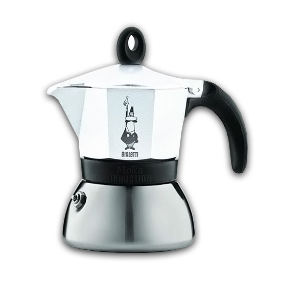 Moka INDUCTION WHITE 3 Tazze / 3 Tassen BIALETTI