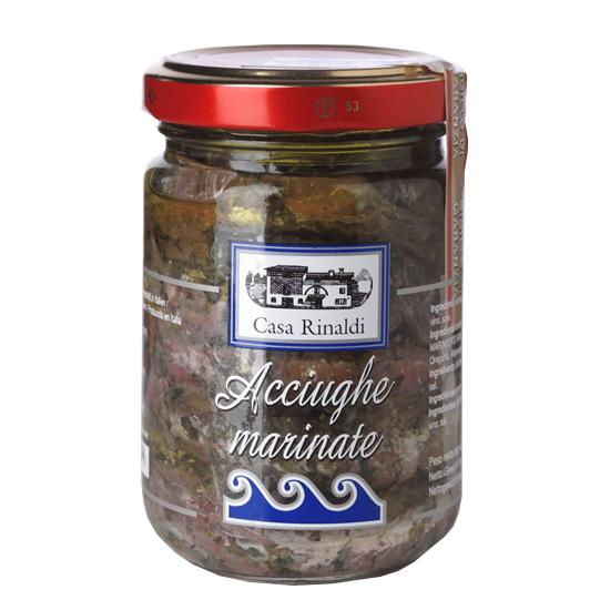 Acciughe Marinate / Sardellen mit Olivenöl 130 g CASA RINALDI