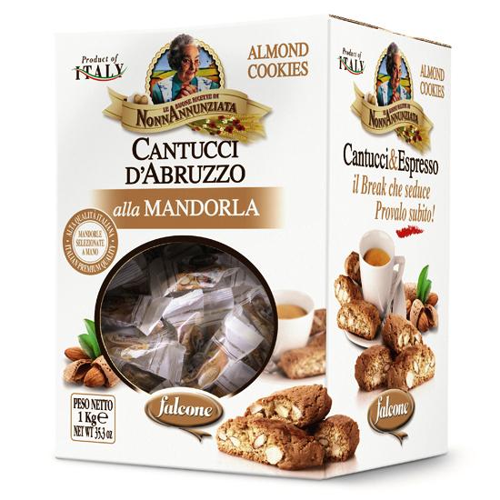 Cantuccini D'Abbruzzo mit Mandelstücken 1 kg FALCONE