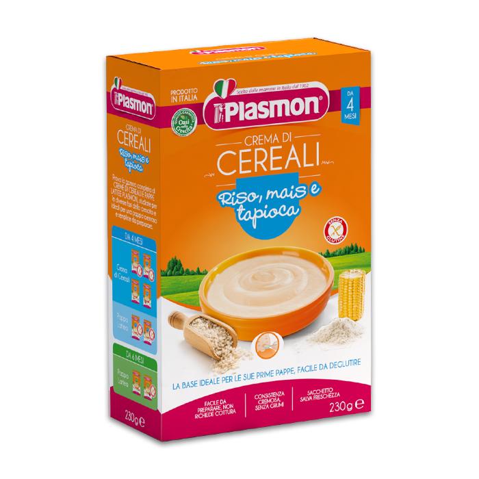 Plasmon Crema Di Cereali Riso Mais Tapioca / Babynahrung mit Reis, Mais und Tapioka 230 g