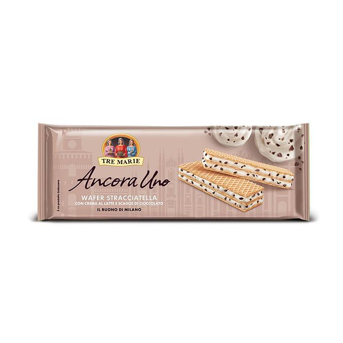 Wafer Stracciatella / Waffeln mit Milchcreme und Schokoladenstücken 140g TRE MARIE