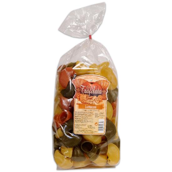 Lumaconi Tricolori \ Dreifarbige Nudeln 500 g LA TRAFILATA