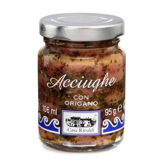 Acciughe con Origano / Sardellen mit Oregano 95 g CASA RINALDI