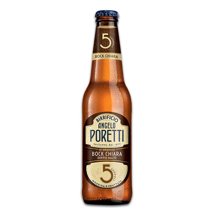 Birra Angelo Poretti Bock Chiara 5 Luppoli 330 ml