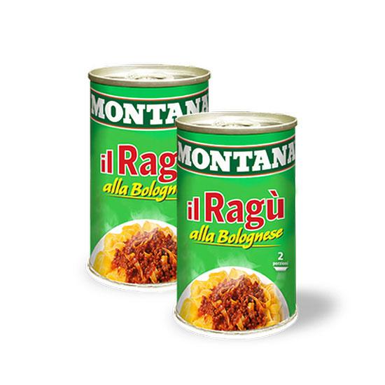 Il Ragú alla Bolognese / Pastasoße mit Fleisch 2 x 100 g MONTANA