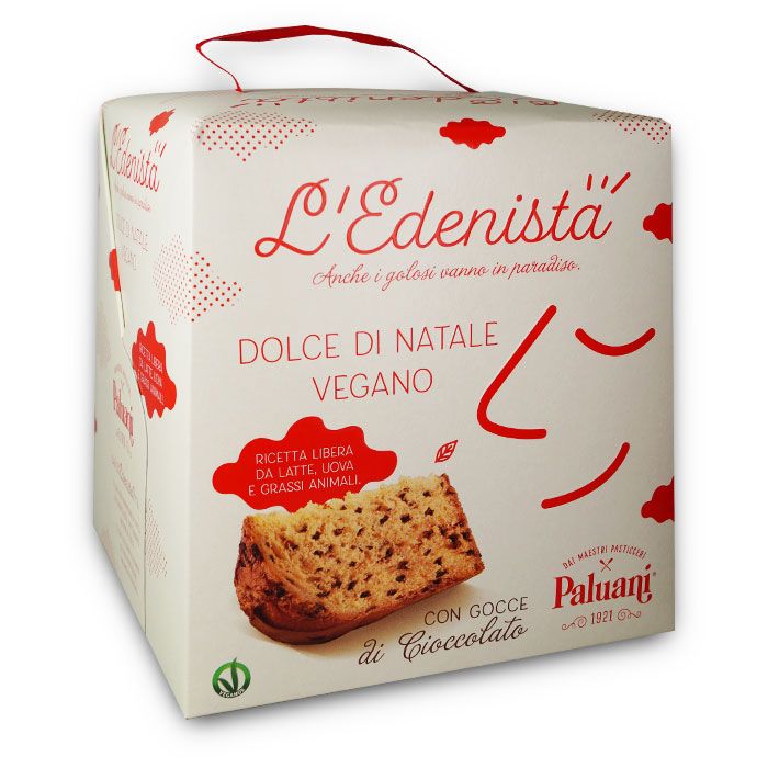 L Edenista Dolce di Natale Vegano Cioccolato / Veganer Weihnachtskuchen mit Schokolade 750 g PALUANI