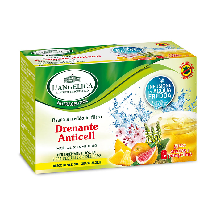 Tisana a Freddo Drenante 15 Filtri / Entwässernder Tee L ANGELICA