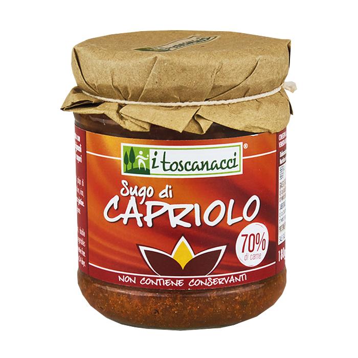 Sugo di Capriolo / Tomatensoße mit Rehwildfleisch 180g I TOSCANACCI