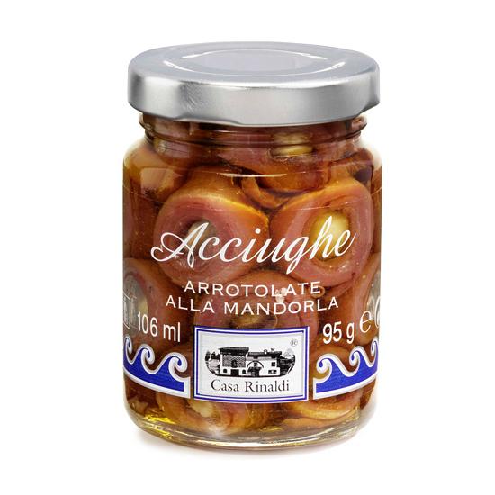 Acciughe Arrotolate alla Mandorla / Sardellen mit Mandeln 95 g CASA RINALDI