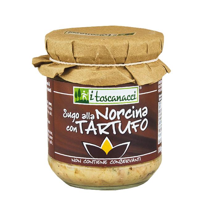 Sugo alla Norcina con Tartufo / Soße mit Schweinefleisch und Trüffel 180g I TOSCANACCI