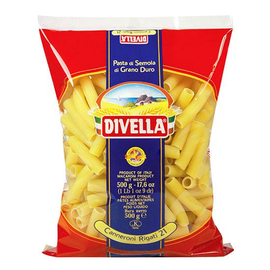 Divella 21 Canneroni Rigati / Nudeln 500 g