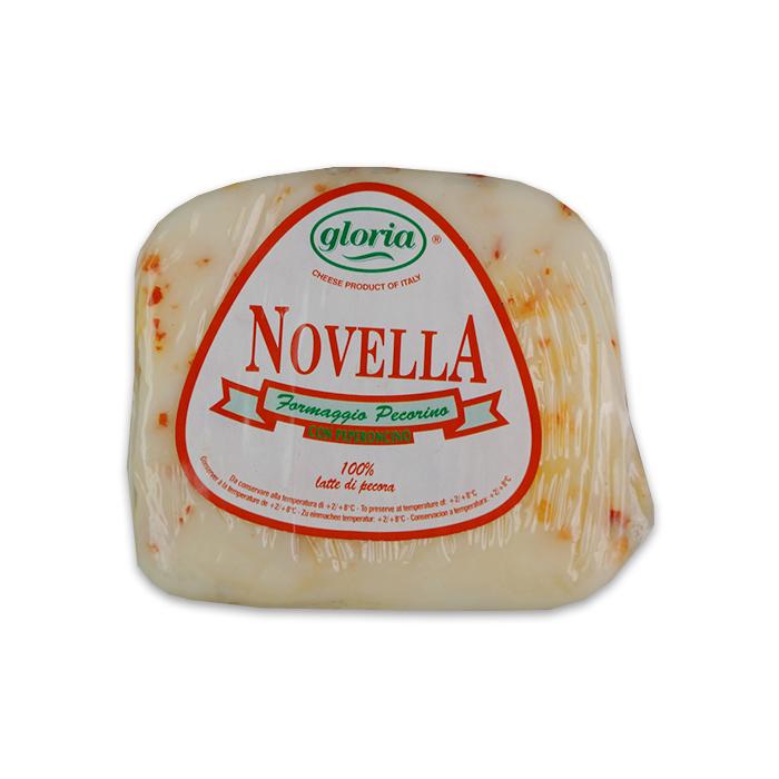 Caciotta Ovina Novella al Peperoncino 200g GLORIA / Schafskäse mit Chili