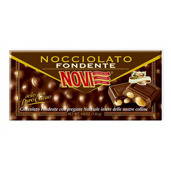 Nocciolato Fondente / Dunkle Schokolade mit Haselnüsse NOVI  130 g