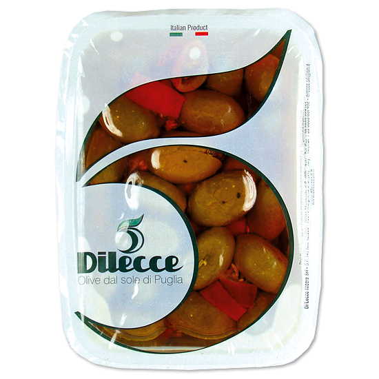 Olive Verdi Piccanti / scharfe Oliven 400 g DI LECCE