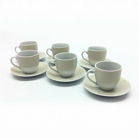 Set 6 Tazzine c/Piattini Crema GENERAL TRADE
