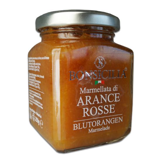 Marmellata di Arance Rosse / Marmelade aus Blutorangen 250g BONSICILIA