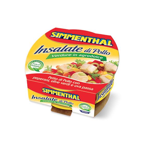 Insalata di Pollo Verdure Agrodolce / Putensalat mit Gemüse 160 g SIMMENTHAL