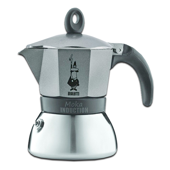 Moka INDUCTION GREY 3 Tazze / 3 Tassen BIALETTI