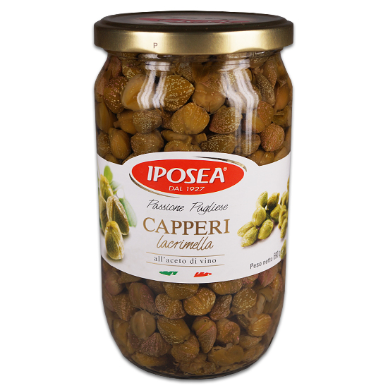 Capperi in Aceto / Kapern in Weinessig 720 ml Iposea