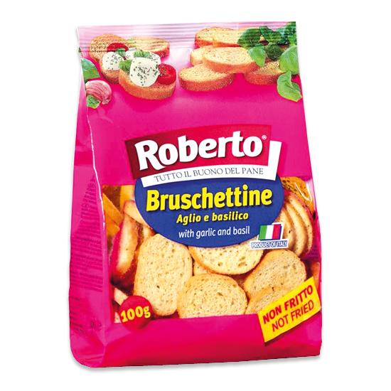 Bruschettine Aglio e Basilico 100 g ROBERTO