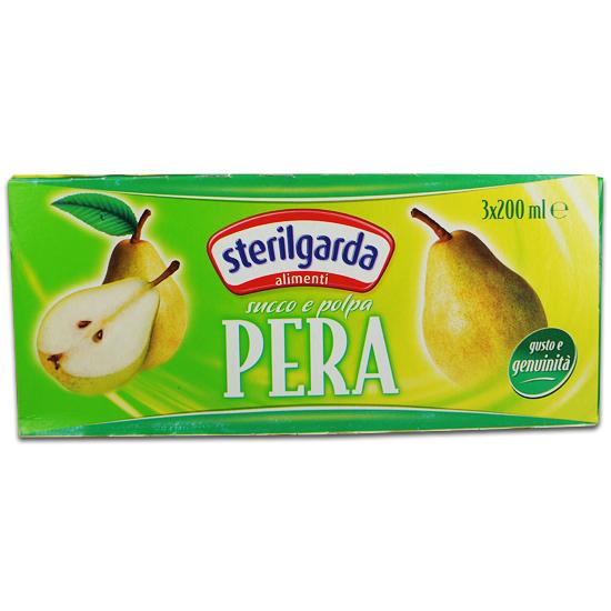 Succo e Polpa Pera Brik 3 x 200ml STERILGARDA