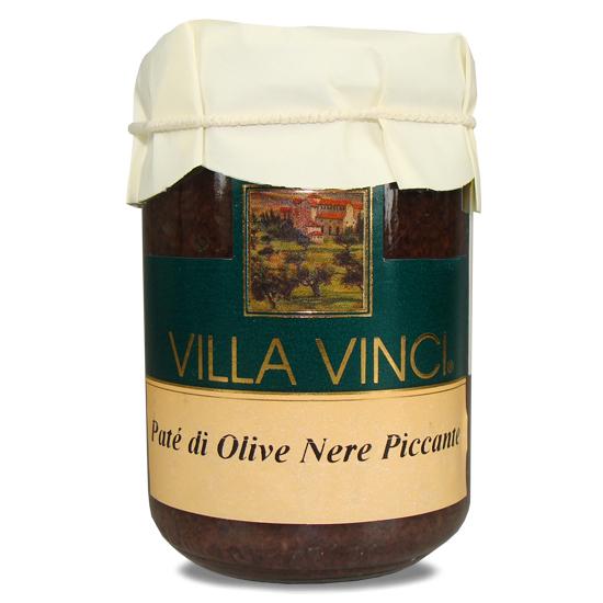 Pate di Olive Nere Pic Villa Vinci / scharfe, schwarze Olivenpaste 130 g SUD ITALIA