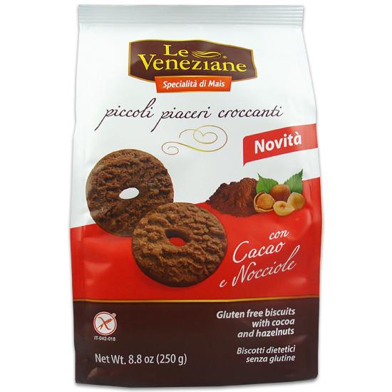 Biscotti con Cacao Nocciole 250 g Glutenfrei LE VENEZIANE