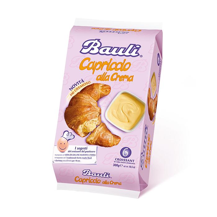 Croissant Capriccio alla Crema / Croissant mit Vanillecreme 300g BAULI