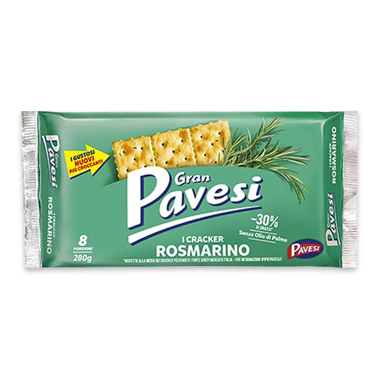 Gran Pavesi Rosmarino / Crackers mit Rosmarin 280 g PAVESI