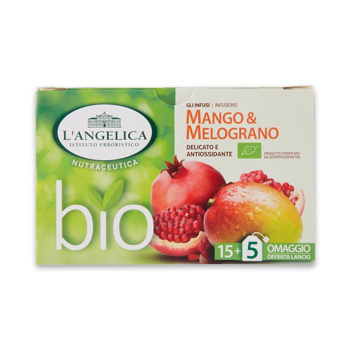 Gli Infusi Mango e Melograno 20 Filtri / Tee mit Mango und Granatapfel L ANGELICA