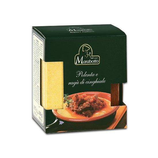 Polenta e Ragù di Cinghiale / Polenta mit Wildschweinsoße 430 g MARABOTTO