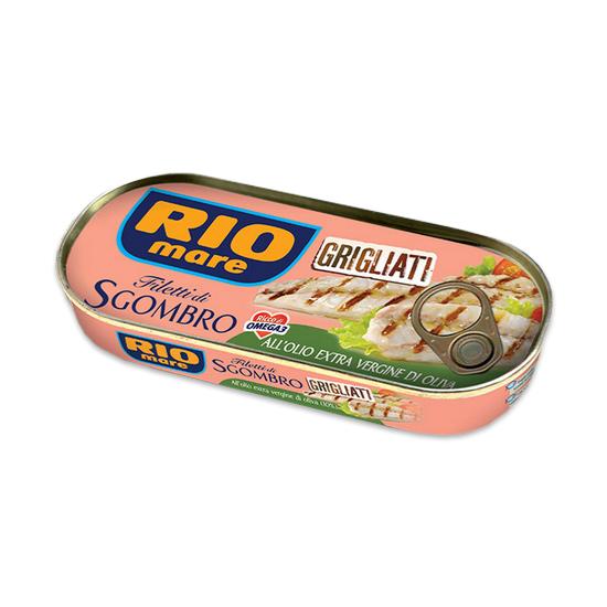 Filetti di Sgombro all Olio Extra Vergine di Oliva / Makrelen Filet mit Olivenöl 120 g RIO MARE